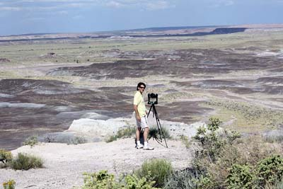 Shooting at the Petrified Forest in Arizona