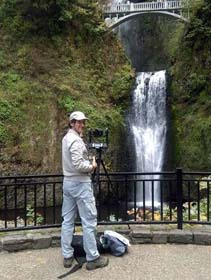First of a long series of waterfalls. This was Multnomah Falls