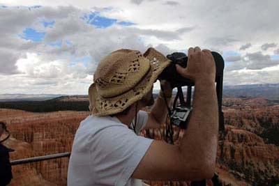 Setting up for Bryce Canyon Shots