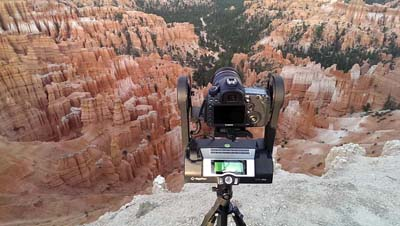 Canon 5DS attached to a Gigapan Epic Pro overlooking Bryce Canyon