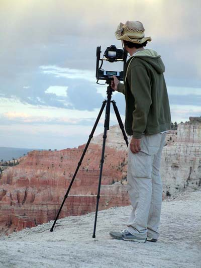 Getting ready for sunset at Bryce Canyon