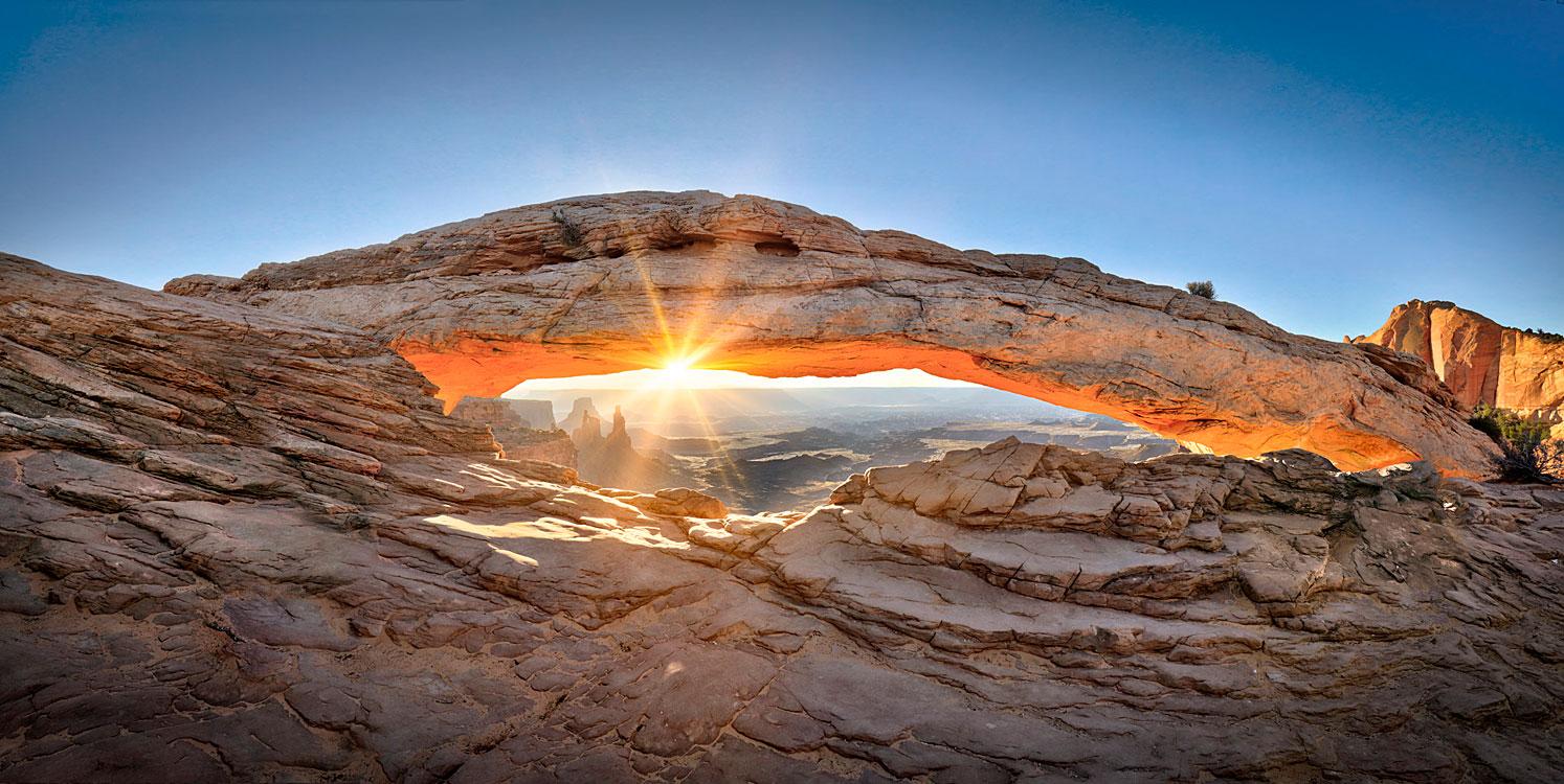 Mesa Arch Sunrise Large Format Photograph